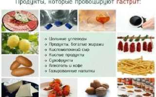 Диета при гастрите в стадии обострения: лечебное питание, меню