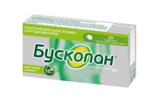 Список препаратов спазмолитиков миотропного, нейротропного, комбинированного действия