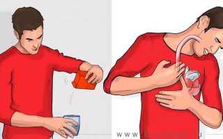 Если у вас произошла отрыжка в течение 5 минут после принятия содового раствора, что это значит