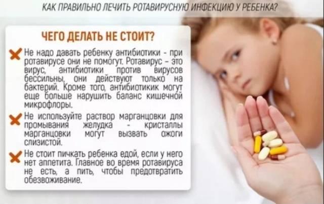 Что не надо делать при ротавирусной инфекциии